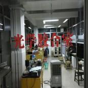 光学胶合室